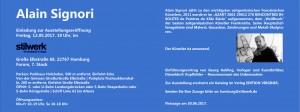Einladungskarte Signori - innen Maße: 105 mm hoch, 148 mm breit